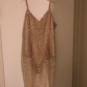 Sexy glittery gold dress